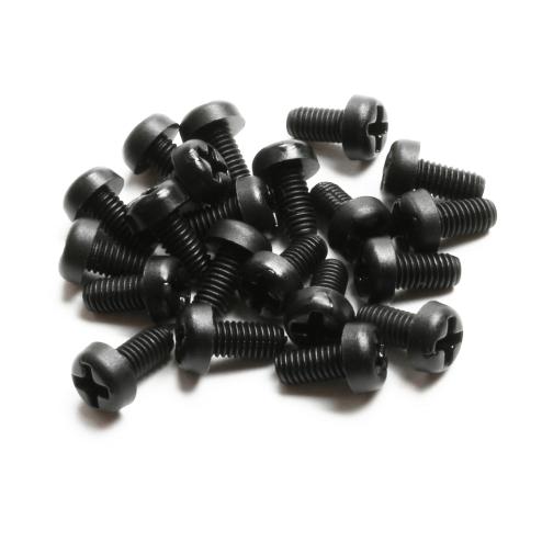 Nylon Schrauben M3 x 6 - schwarz (20 Stück)
