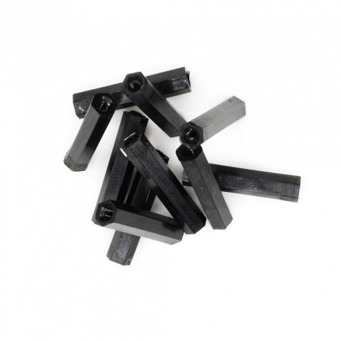 Nylon Abstandshalter Standoffs Spacer 20 mm M2 - schwarz (10 Stück)