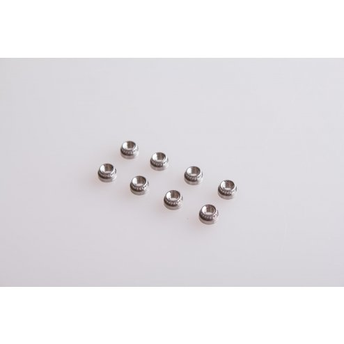 8x Stainless Steel Press Nuts