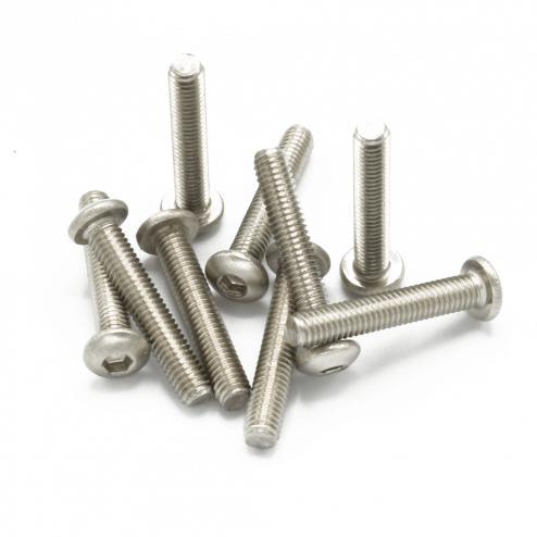 Linsenkopfschrauben M3 x 17 mm Stahl silber (9 Stück)