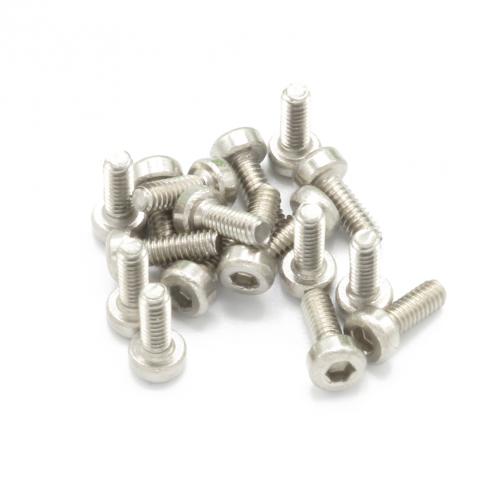 Linsenkopfschrauben M2 x 5.5 mm Stahl silber (17 Stück)