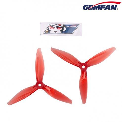 Gemfan Flash 5144 Dreiblatt Propeller - Rot (4 Stk.)