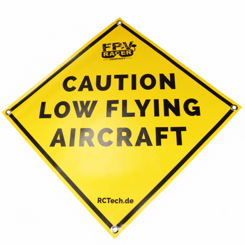 Startmatte 'Caution low flying aircraft'