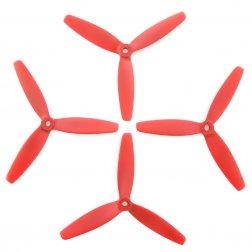 Lumenier 5040 5x4x3 Dreiblatt Propeller rot (4 Stück)