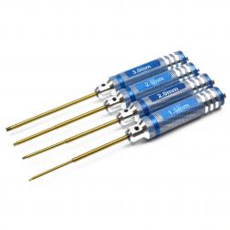 Innensechskant Schlüssel - 4er Set - mit Griff 1,5 2 2,5 und 3 mm Blau