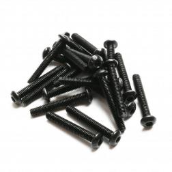 Linsenkopfschrauben M3 x 25 mm Stahl schwarz (20 Stück)