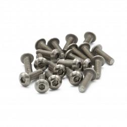 Linsenkopfschrauben M3 x 10 mm Titan (20 Stück)