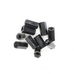 Nylon Abstandshalter Standoffs Spacer 8 mm M2 - schwarz (10 Stück)