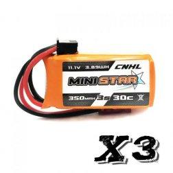 CNHL Mini Star 3S 350 mAh 30C LiPo Akku (3 Stück)