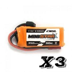 CNHL Mini Star 2S 350 mAh 30C LiPo Akku (3 Stück)