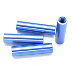 Aluminium Spacer Blau 20 mm (4 Stück)