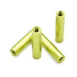 Aluminium Spacer Grün / Gold 20 mm (4 Stück)