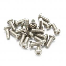 Linsenkopfschrauben M3 x 8 mm Stahl silber (21 Stück)