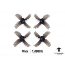 TBS Micro Brushless Props 4 Blade 40mm (Black) (1.5mm Hub)