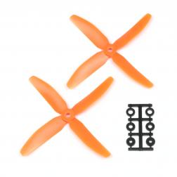 HQProp 5040 Vierblatt 2 Stk. CW Orange - 5X4X4R_O