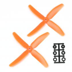 HQProp 5040 Vierblatt 2 Stk. CCW Orange - 5X4X4_O