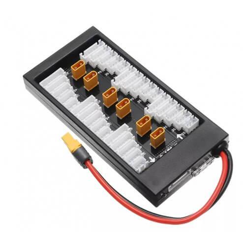 RCTech Parallel Charging Board 6 Fach XT30 mit XT60 Input