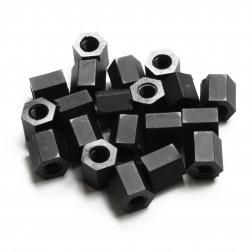 Nylon Abstandshalter Standoffs Spacer 5 mm M3 - schwarz (20 Stück)