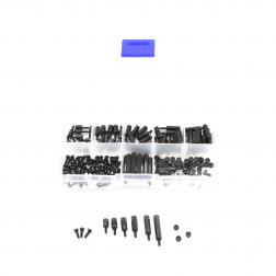 Nylon M2 Abstandshalter, Schrauben Muttern Set - schwarz 180 Stück