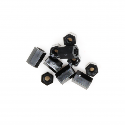 Nylon Abstandshalter Standoffs Spacer 6 mm M2 - schwarz (10 Stück)