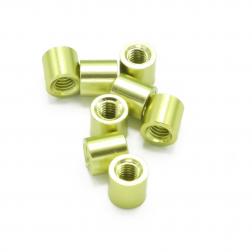 Aluminium Spacer Grün / Gold 5 mm (8 Stück)