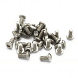 Linsenkopfschrauben M3 x 6 mm Stahl silber (29 Stück)
