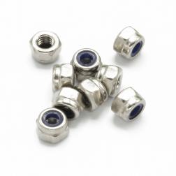 Muttern M3 Stahl Selbstsichernd Silber (9 Stück)