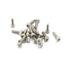Linsenkopfschrauben M2 x 6.5 mm Stahl silber (17 Stück)
