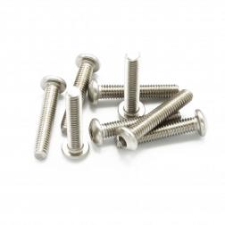 Linsenkopfschrauben M3 x 16 mm Stahl silber (9 Stück)