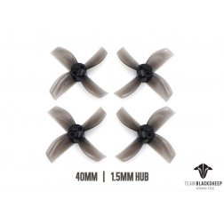 TBS Micro Brushless Props 4 Blade 40mm (Black) (1.5mm Hub)