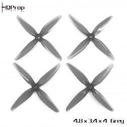 HQProp Durable 4834 Vierblatt Grau DP4.8X3.4X4GR-PC (4 Stk.)