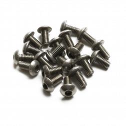 Linsenkopfschrauben M3 x 6 mm Titan (20 Stück)