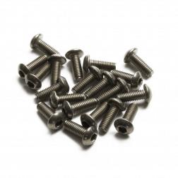 Linsenkopfschrauben M3 x 8 mm Titan (20 Stück)