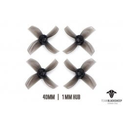 TBS Micro Brushless Props 4 Blade 40mm (Black) (1.0mm Hub)