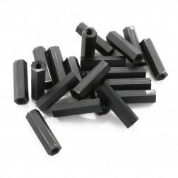 Nylon Abstandshalter Standoffs Spacer 20 mm M3 - schwarz (20 Stück)