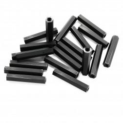 Nylon Abstandshalter Standoffs Spacer 30 mm M3 - schwarz (20 Stück)