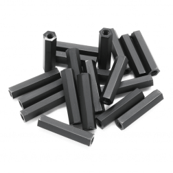 Nylon Abstandshalter Standoffs Spacer 25 mm M3 - schwarz (20 Stück)