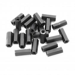 Nylon Abstandshalter Standoffs Spacer 15 mm M3 - schwarz (20 Stück)