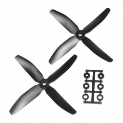 HQProp 5040 Vierblatt 2 Stk. CW Schwarz - 5X4X4R_B