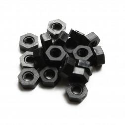 Nylon Muttern M3 - schwarz (20 Stück)