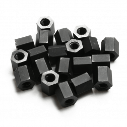 Nylon Abstandshalter Standoffs Spacer 6 mm M3 - schwarz (20 Stück)