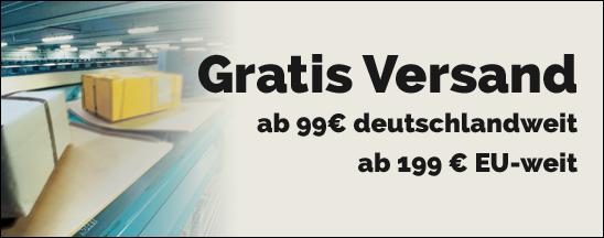 Kostenloser Versand ab 99 Euro